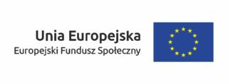 Logo - Unia Europejska Europejski Fundusz Społeczny
