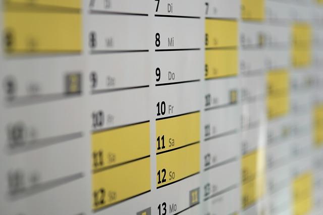 Zdjęcie kalendarza ściennego