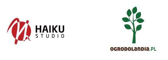 logotypy firm Haiku Studio i Ogrodolandia.pl