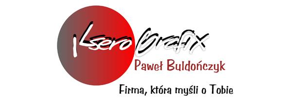 """Logotyp firmy Ksero Grafix i napis: """"Paweł Buldończyk. Firma, która myśli o Tobie"""""""