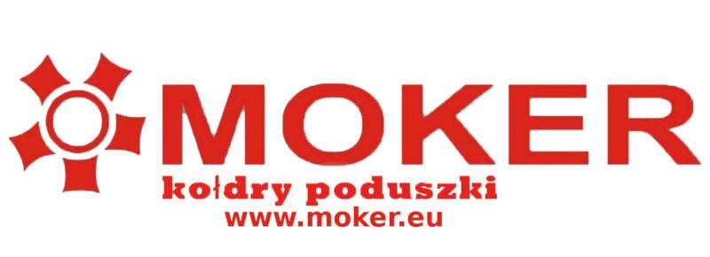 logotyp firmy Moker i adres strony internetowej www.moker.eu