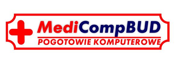 Logotyp firmy MediCompBUD - pogotowie komputerowe