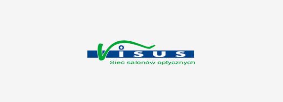 Logotyp firmy Visus - sieć salonów optycznych