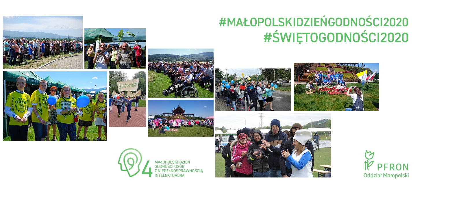 Plakat przedstawiający obchody Małopolskiego Dnia Godności w poprzednich latach