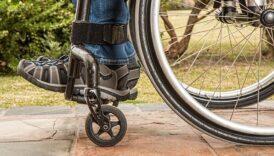 Fragment wózka inwalidzkiego